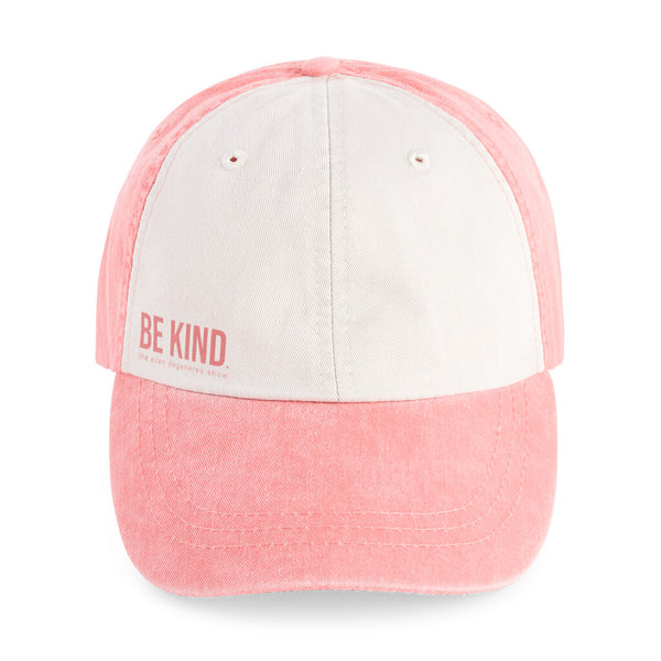 BE KIND. Twill Hat - Coral