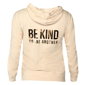 ellen Show Be Kind Zip Hoodie- Oatmeal