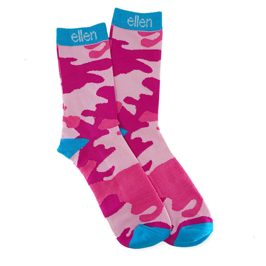 The Ellen DeGeneres ShowShop - Pink Camo Socks - Side