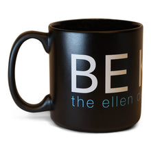 The Ellen DeGeneres Show Shop- Be Kind Oversized Black Mug- Black- Front with Handle on Left