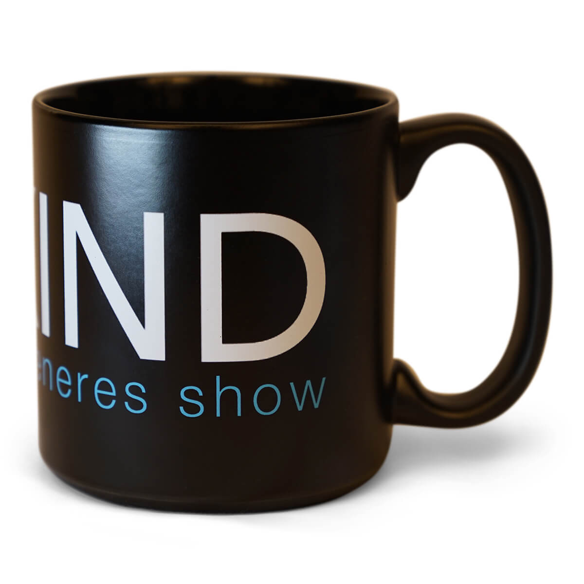 The Ellen Degeneres Show- Be Kind Oversized Black Mug - Black - Front