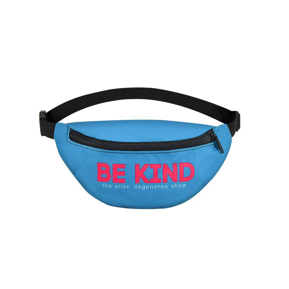 The ellen DeGeneres Show Shop- Be Kind Fanny Pack- Blue-Pink-Front