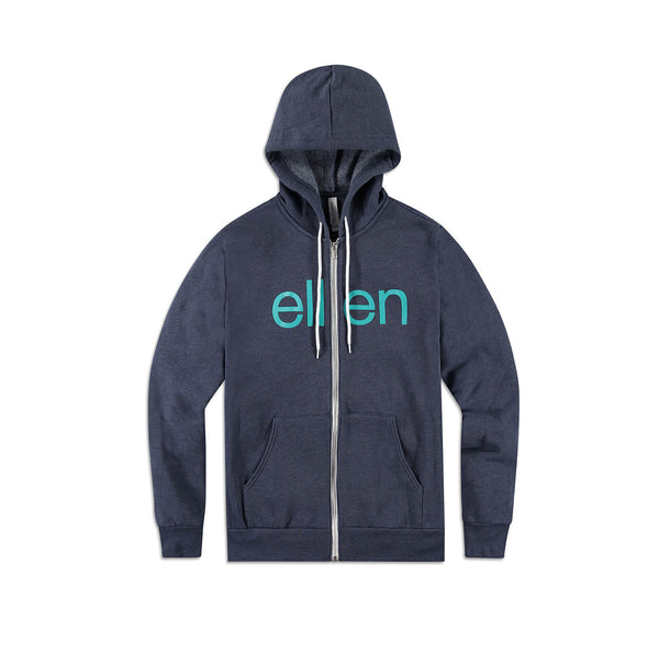 Bella + Canvas Ellen Show Hoodie - Heather Navy