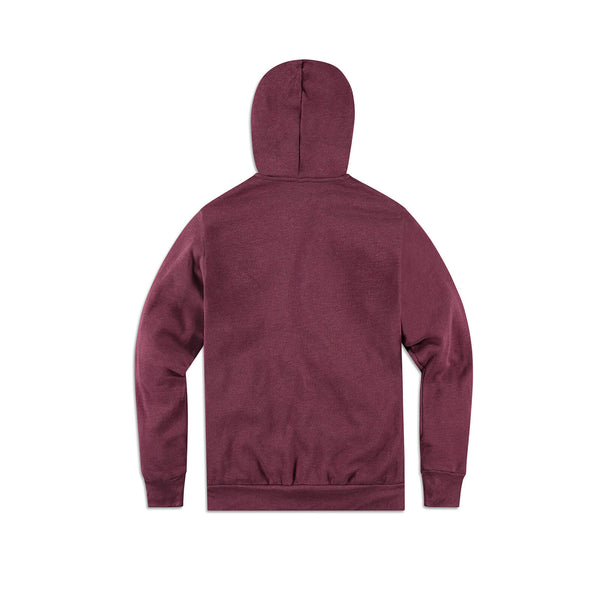 Bella + Canvas Ellen Show Hoodie - Heather Maroon