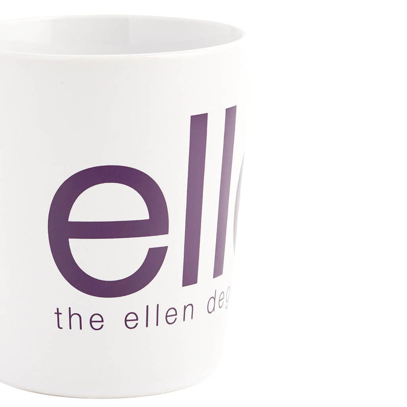 The Ellen Show White and Purple Mug