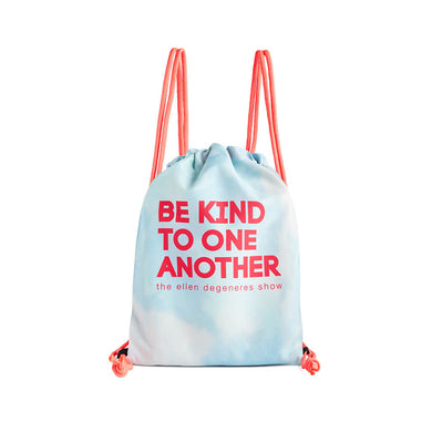 Be Kind Pink Drawstring Bag