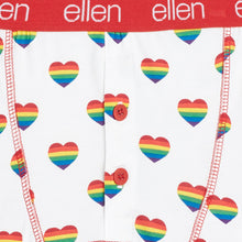 ellen Show Men's Rainbow Heart Boxers