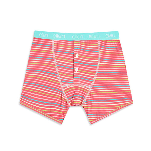 ellen Show Men's Summer Striped Boxers
