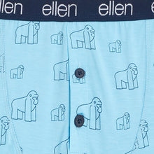 The ellen Fund™ Men's Gorilla Boxers- Blue