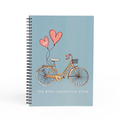 Ellen Show Bicycle Journal - Blue