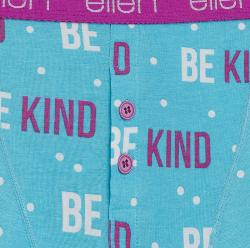 Be Kind Polka Dot Boxers - Light Blue