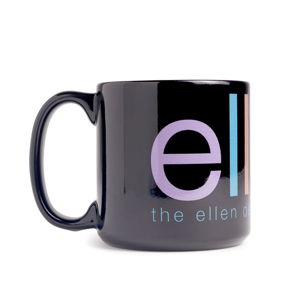 Ellen Show Oversized Rainbow Mug - Black