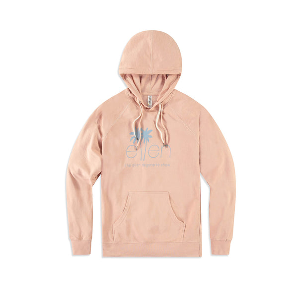 The Ellen DeGeneres Show Summer Palm Tree Logo Hoodie - Pink - front