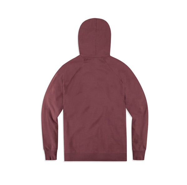 Ellen Show Multicolor Stripes Logo Hoodie - Maroon - back