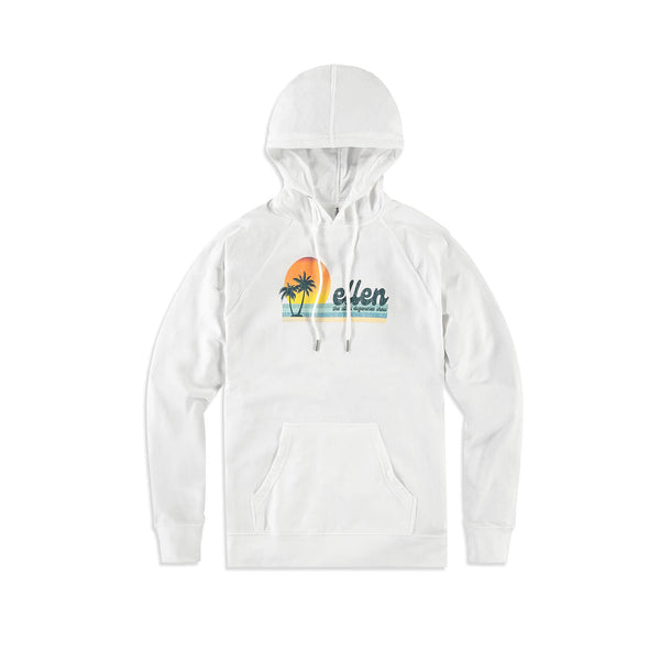The Ellen DeGeneres Summer Palm Tree Graphic Hoodie - White - front