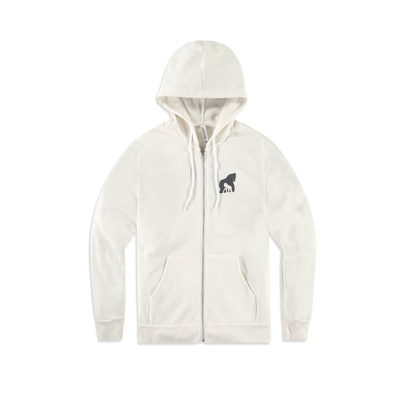 The Ellen DeGeneres Fund Gorilla Summer Zip Up - Bone - front