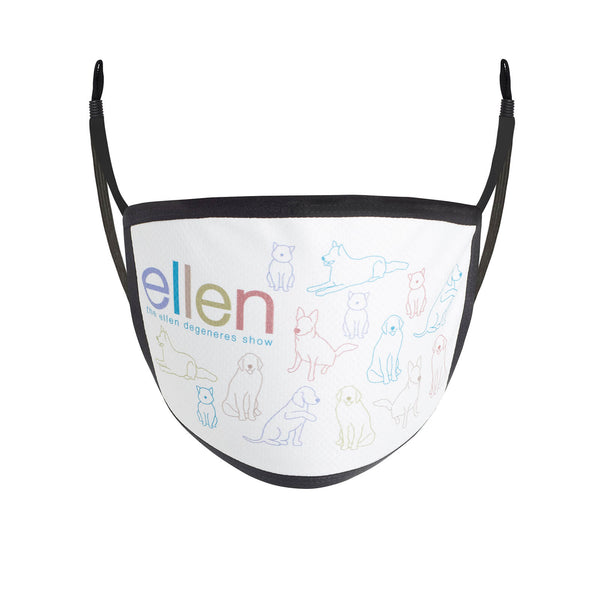 Ellen Show Animal Face Mask Front