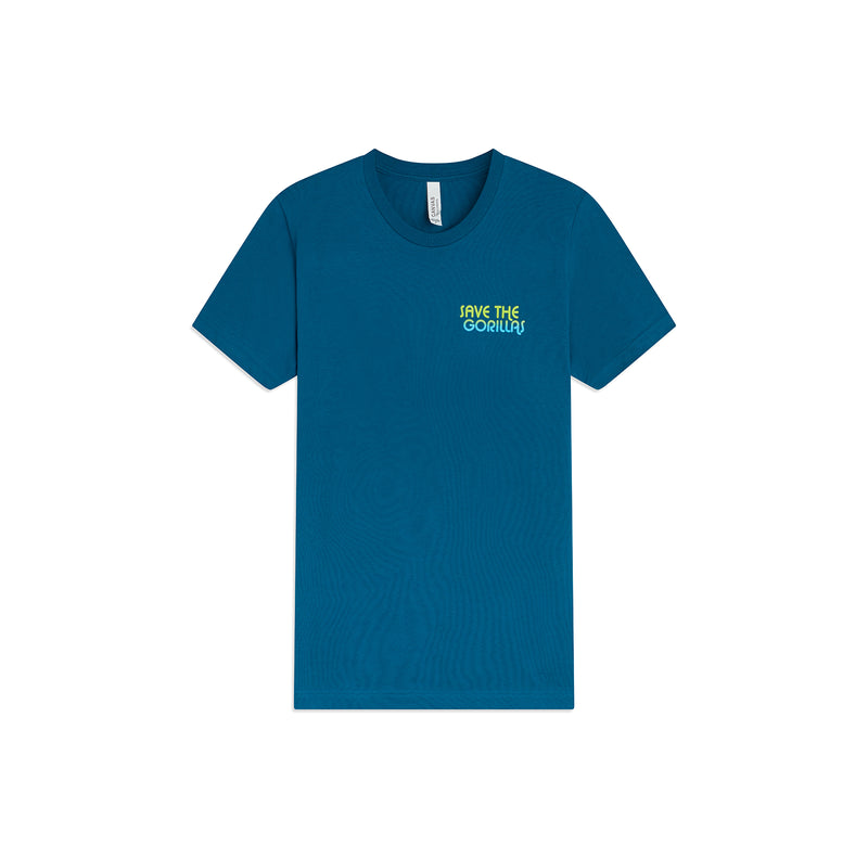 The Ellen Fund Save The Gorillas Tee - Teal