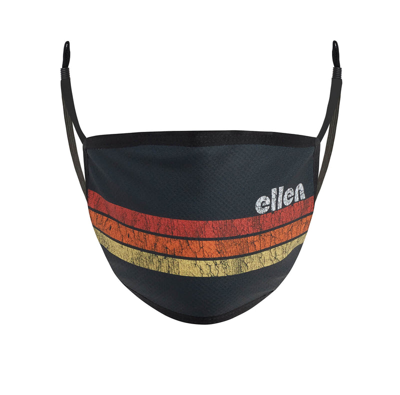 Ellen Show Striped Face Mask - Black - front