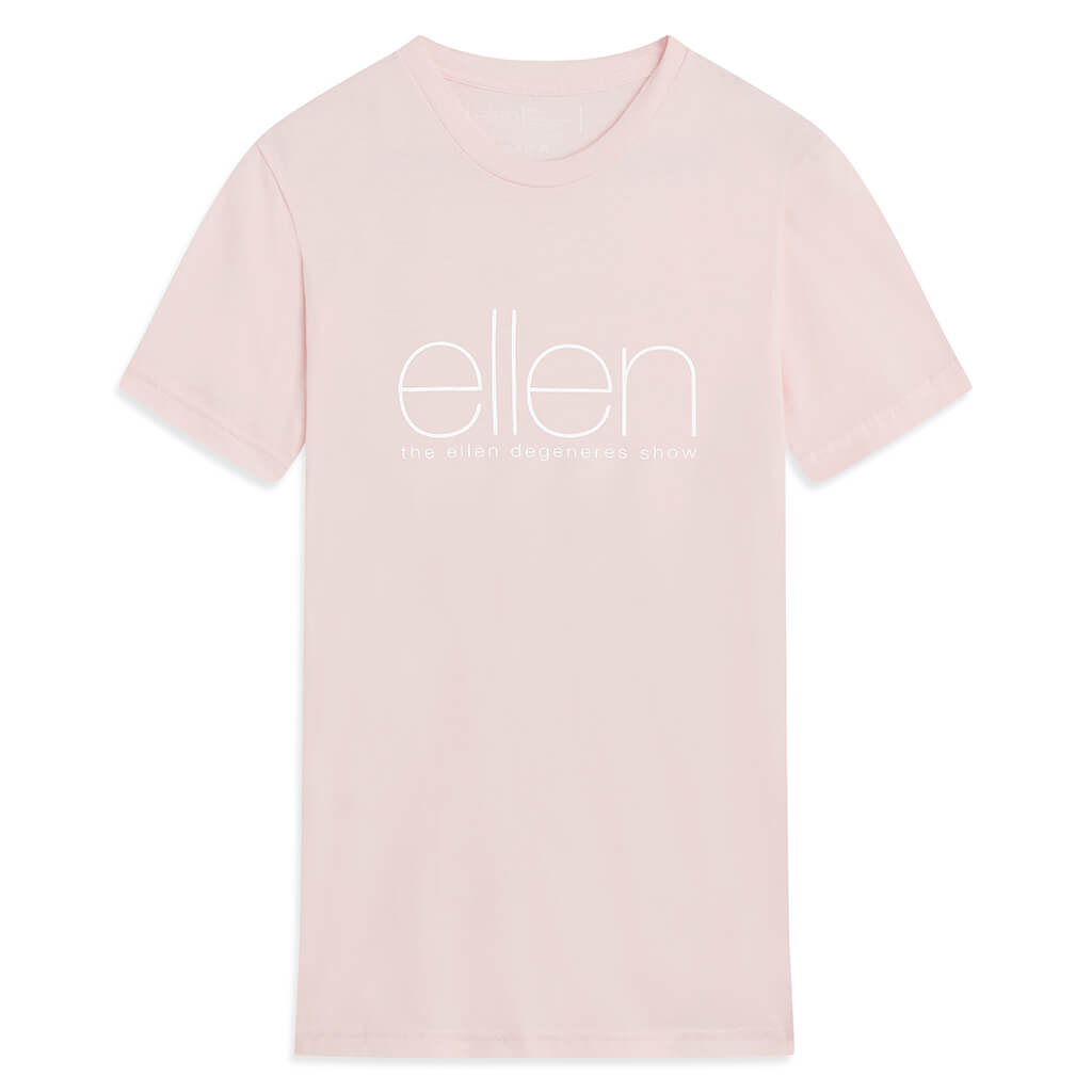 The Ellen Show Crewneck Tee -  Light Pink