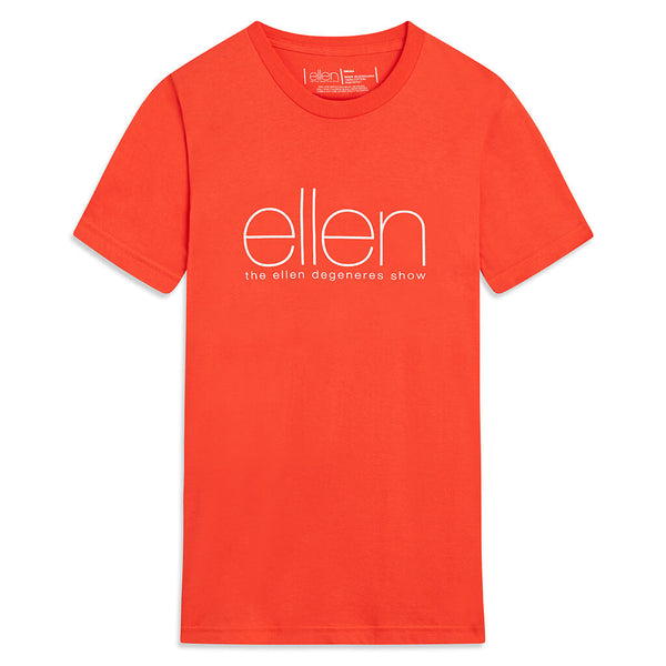 The Ellen Show Crewneck Tee -  Orange