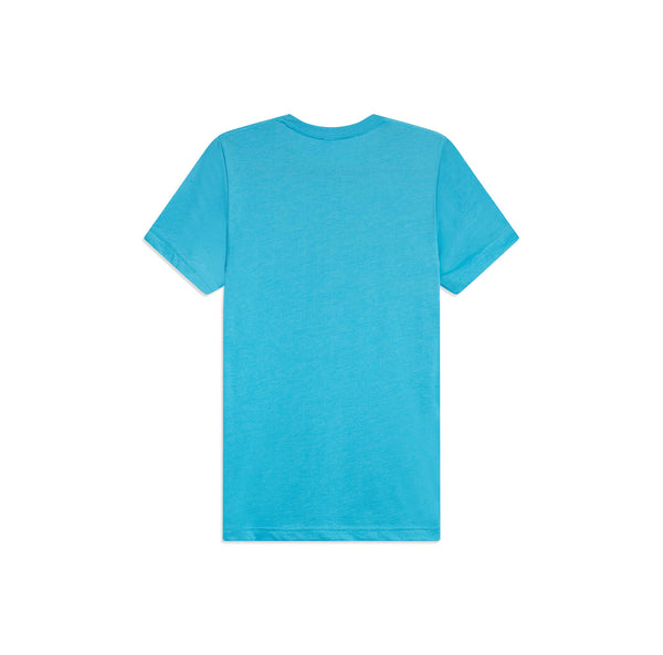 Ellen Logo Multicolor Stripes Tee - Blue - back