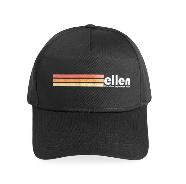 Ellen Show Multicolor Stripes Hat - Black - front