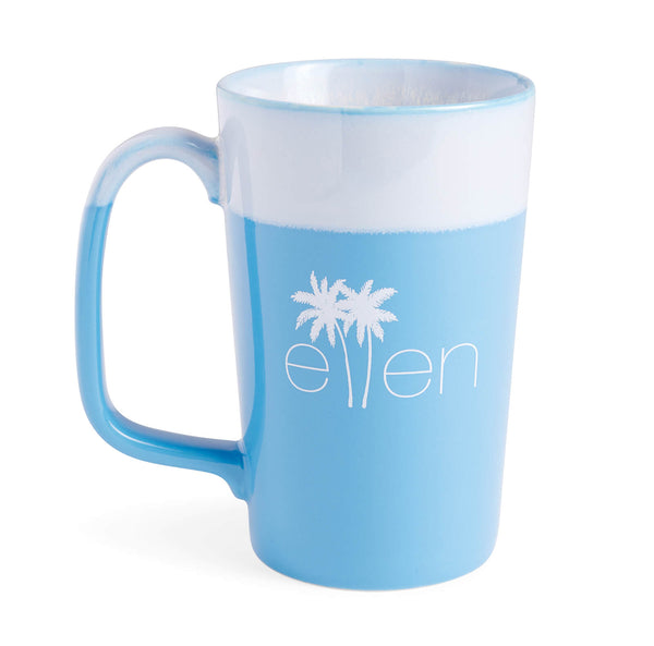 The Ellen DeGeneres Show Summer Palm Tree Logo Mug - Blue - back