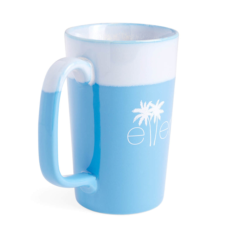 The Ellen DeGeneres Show Summer Palm Tree Logo Mug - Blue - side