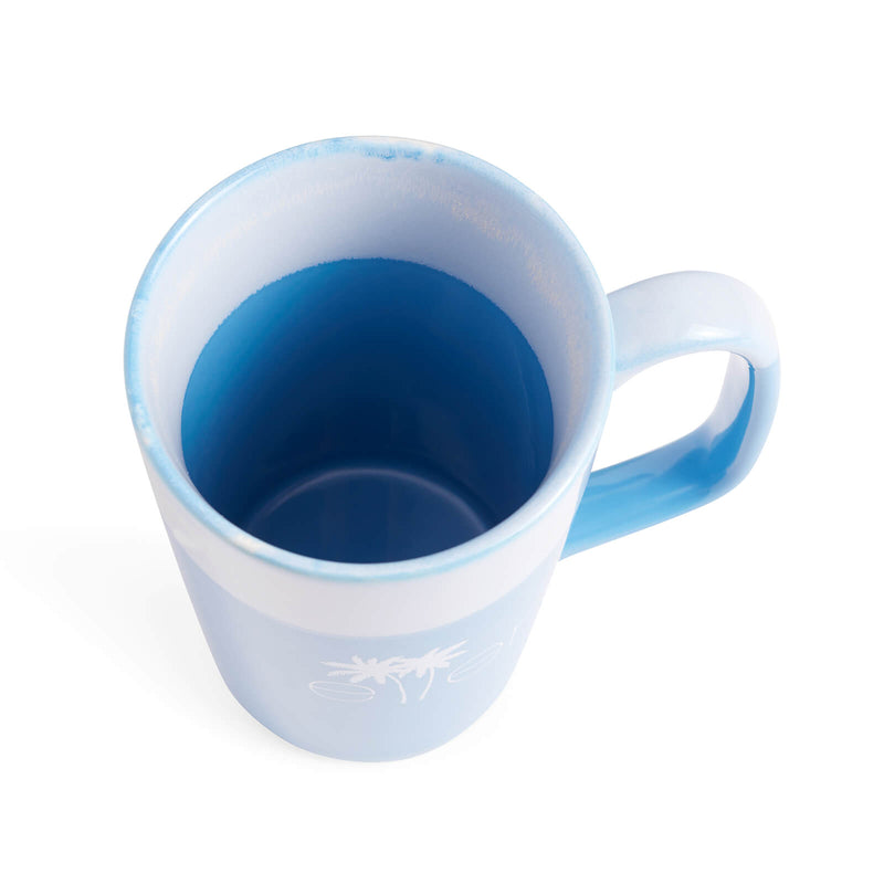 The Ellen DeGeneres Show Summer Palm Tree Logo Mug - Blue - top interior