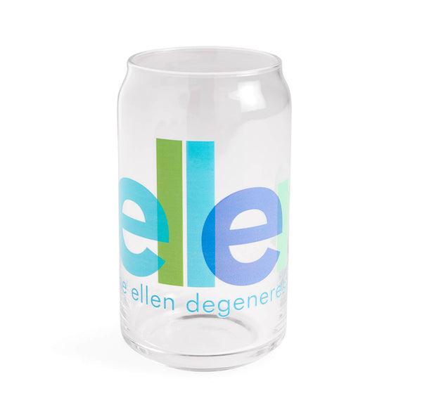 Ellen Show Overlapped Logo Can Glass - front