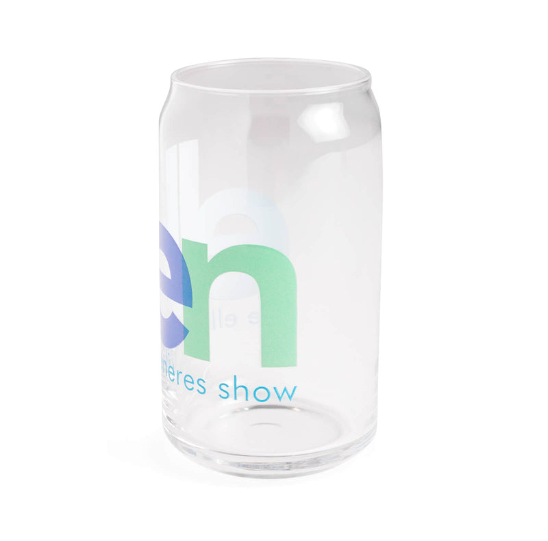 Ellen Show Overlapped Logo Can Glass - side