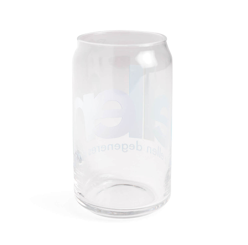 Ellen Show Overlapped Logo Can Glass - back