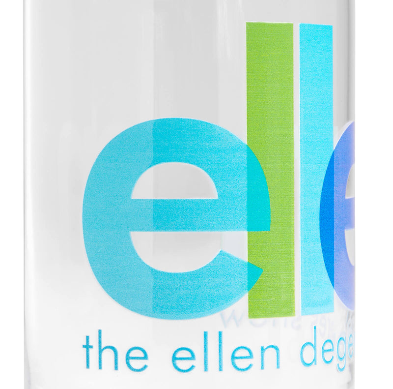 Ellen Show Overlapped Logo Can Glass - logo detail close up