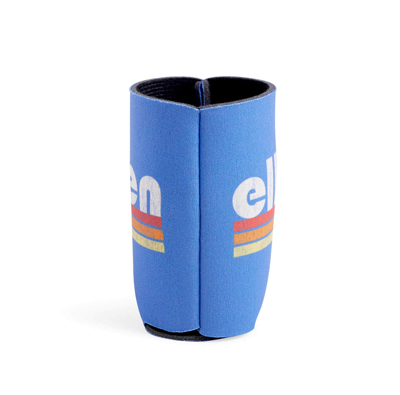 Ellen Show Multicolor Stripes Logo Koozie - Blue - side