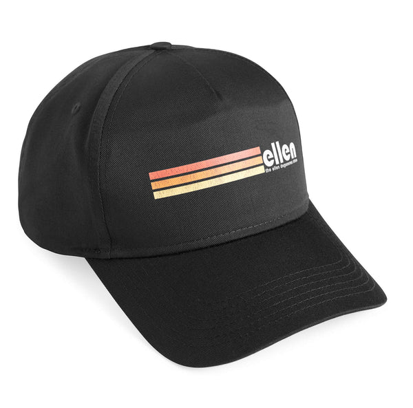Ellen Show Multicolor Stripes Hat - Black - side