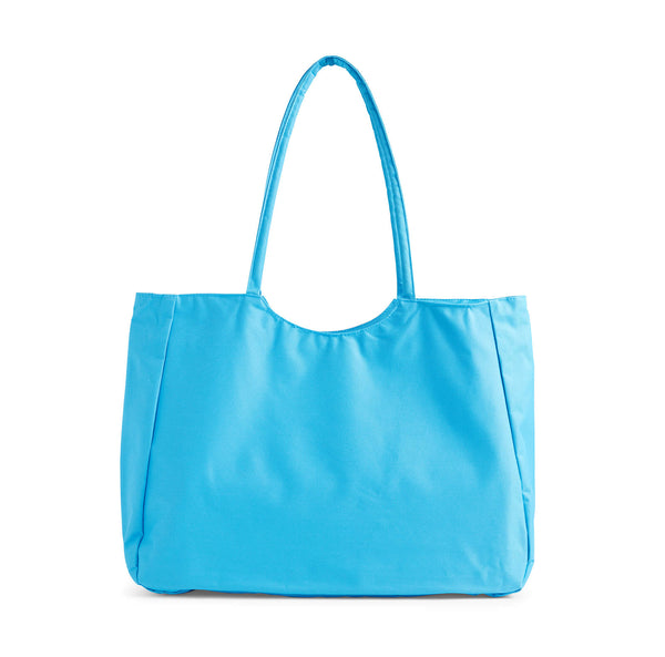 Ellen Show Summer Palm Tree Beach Bag - Blue - back