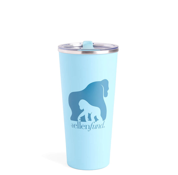 The Ellen DeGeneres Fund Gorilla Stainless Steel Tumbler - Blue -front