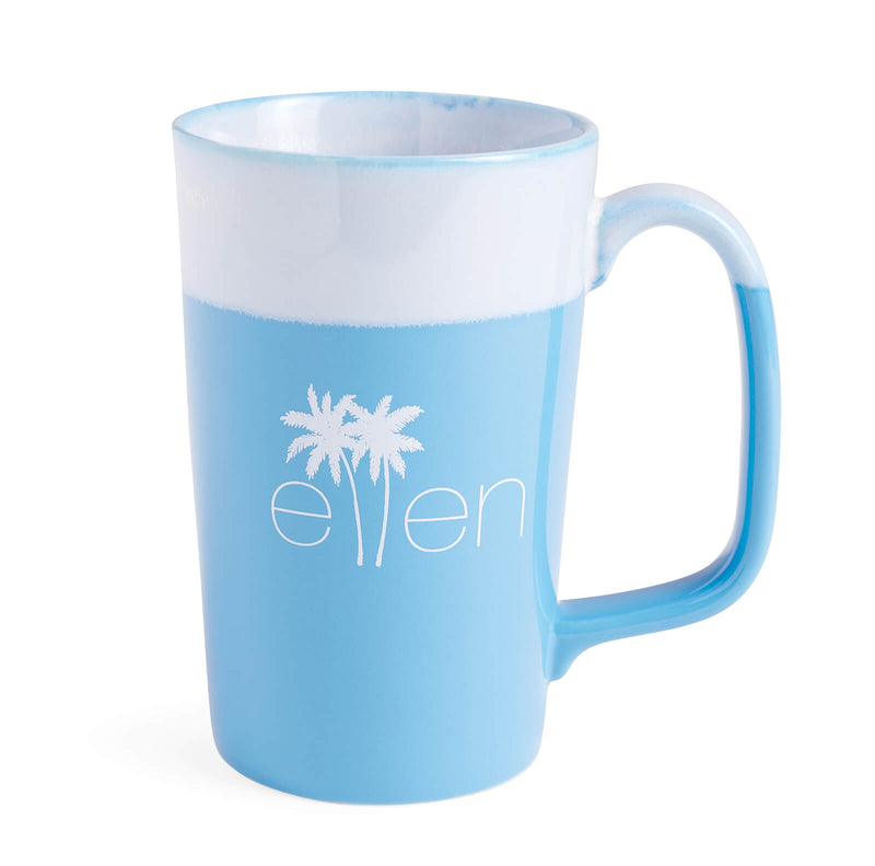 The Ellen DeGeneres Show Summer Palm Tree Logo Mug - Blue - front