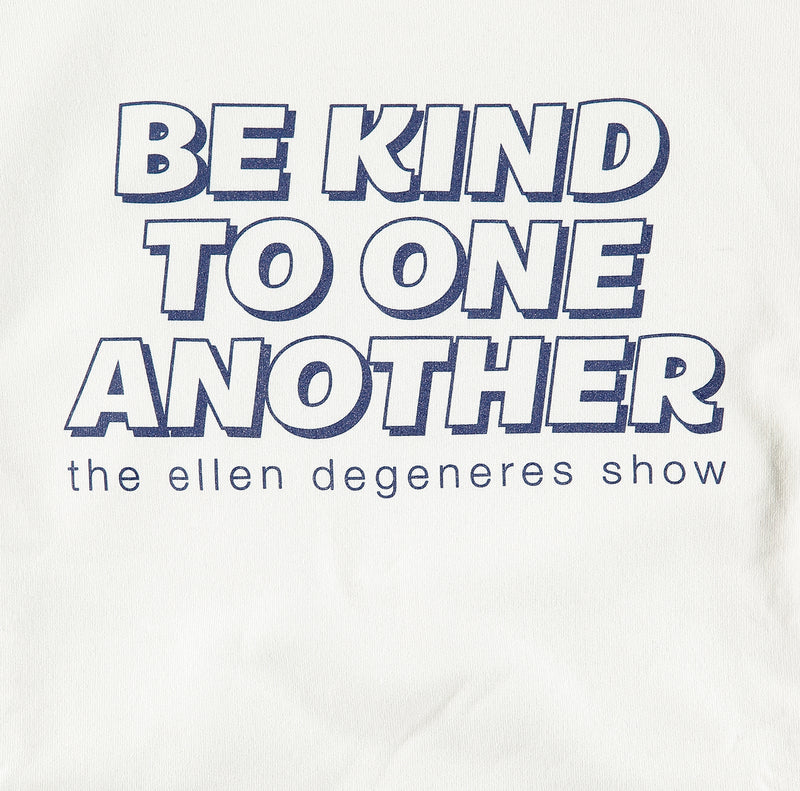 be kind to one another hoodie white-detail
