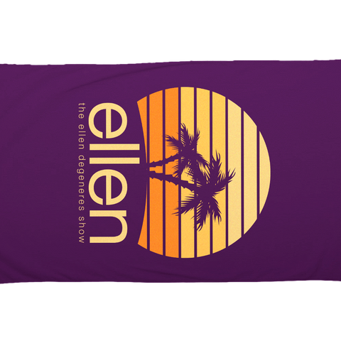 ellen Summer Beach Towel - Purple