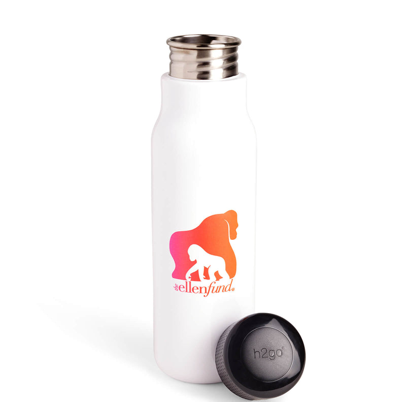 The Ellen Fund Gorilla Water Bottle - White