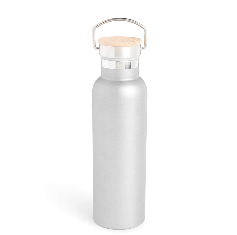 Ellen Show Stainless Steel & Bamboo Bottle - Grey