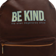 The ellen DeGeneres Show- BE KIND. Canvas Backpack- Black- Front Close Up