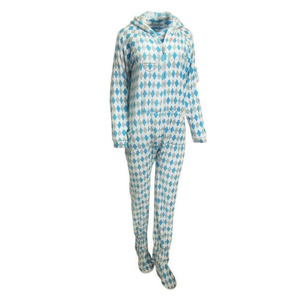 Argyle Adult One-Piece Pajama / Female - Ellen Degeneres Show Shop - 1