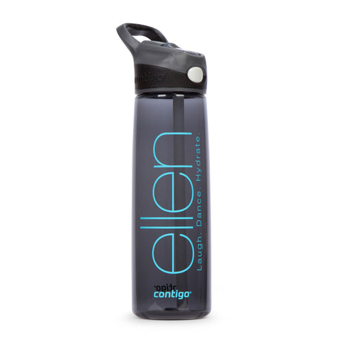 The Ellen DeGeneres Show Shop- ellen Show Sports Water Bottle- Black- Front