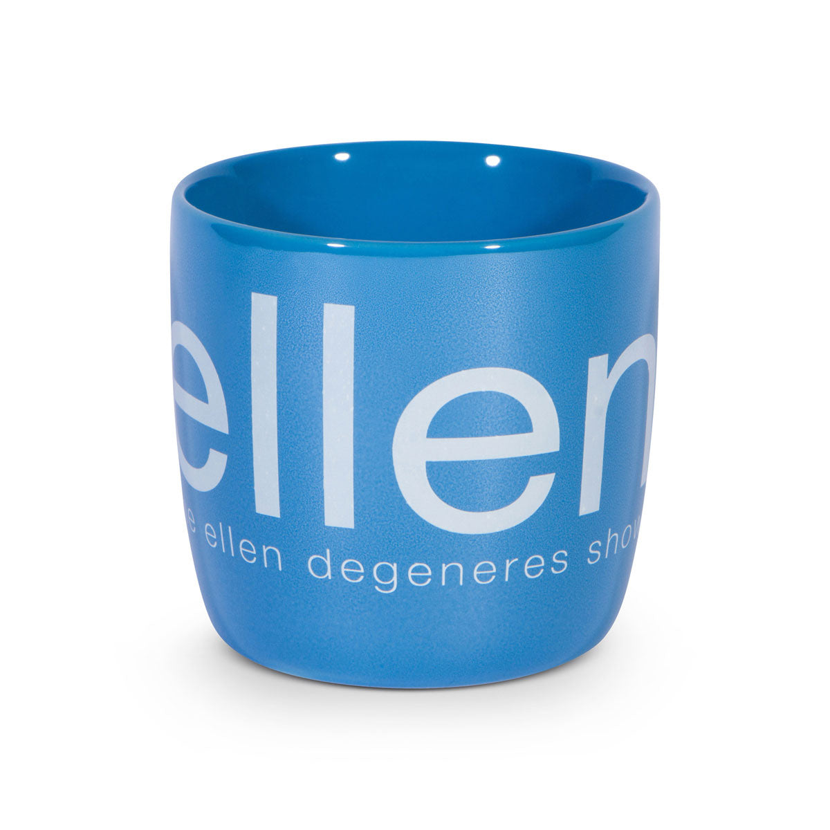 ellen show chrome mug - blue