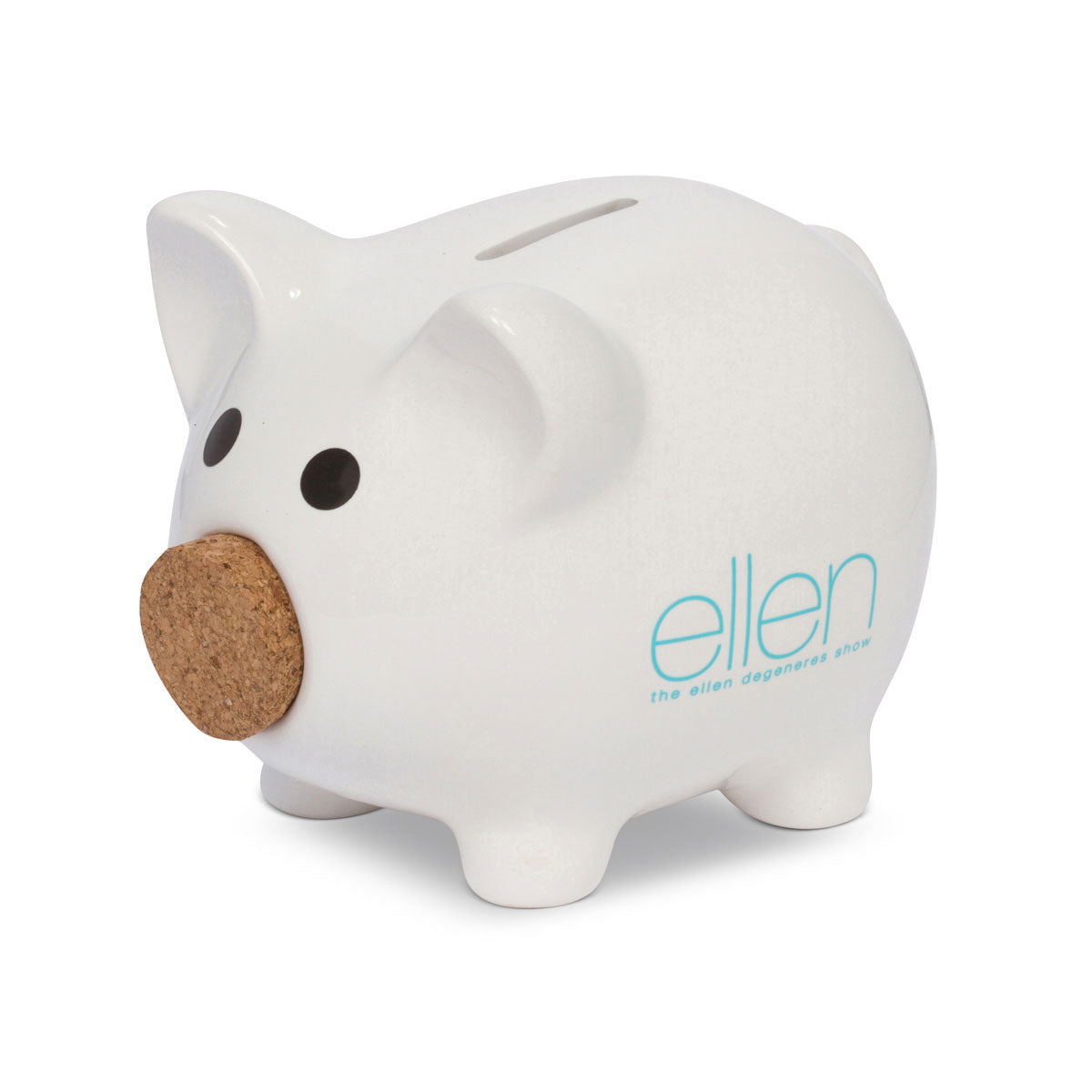 The ellen DeGeneres Show Shop-Piggy Bank-White-Blue-Side