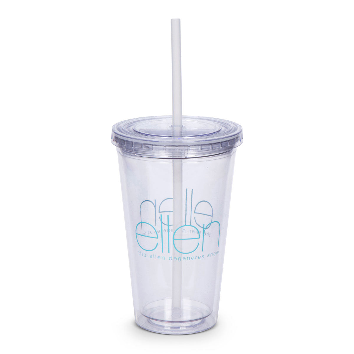 The Ellen DeGeneres Show Shop- Cold Cup & Straw- Clear- Front