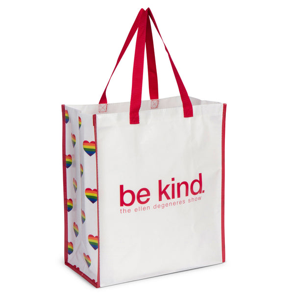 Be Kind Re-Usable Shopper- Hearts